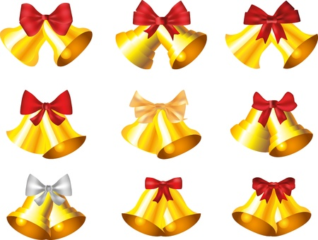 jingle bells collection photo-realistic illustration Vector