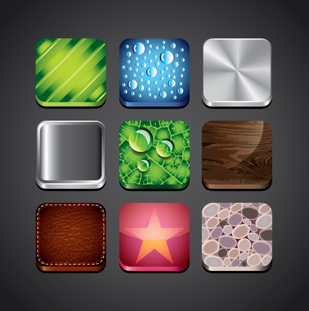 texture backgrounds for app icons vector set Stock Vector - 19104995