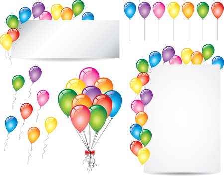 colorful glossy balloons vector set Vector