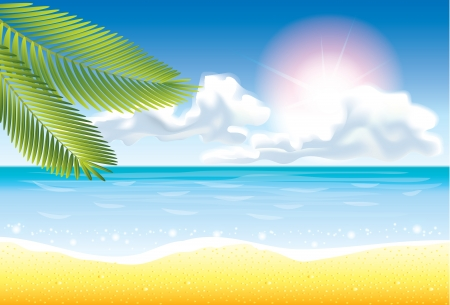 ocean view: summer beach vector background