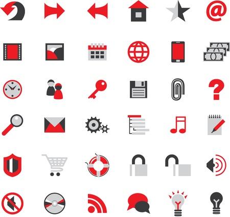 sos: web site icons big vector set