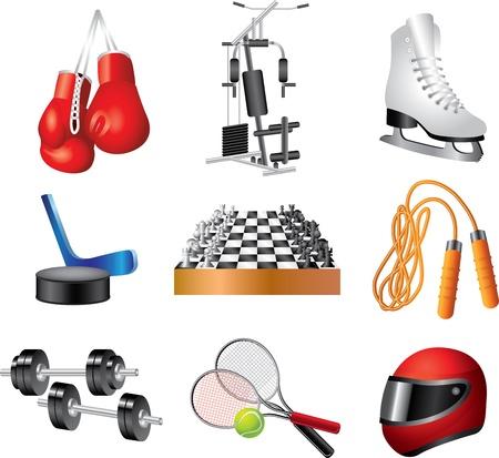 racing skates: sport icons vector set