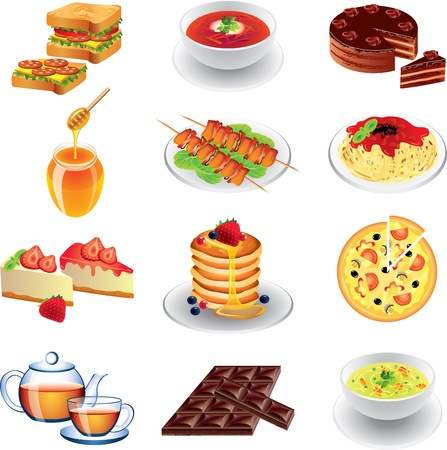 food photo-realistic vector set Vector