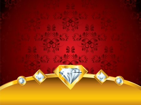 red vintage luxury vector background with diamonds  Vector