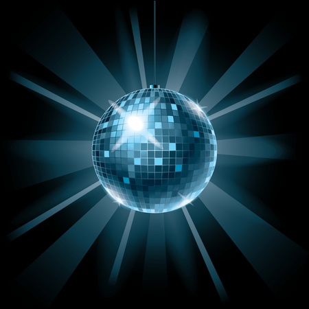 disco ball: Disco ball background for music party vector illustration
