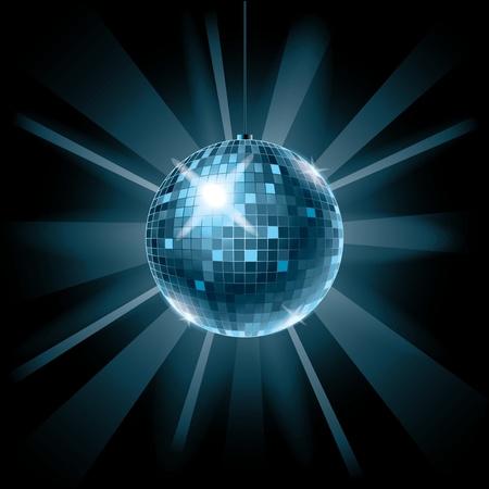 Discoteca sfondo palla per la musica festa illustrazione vettoriale