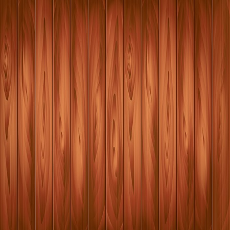 Wood texture, dark plank background photo realistic vector Illustration