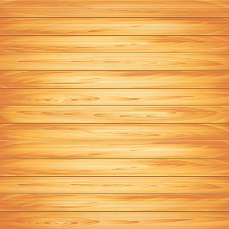 Wood texture, light plank background photo realistic vector Illustration