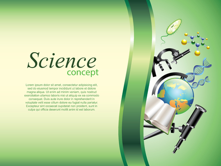 Scientific or education horizontal vector background with devider