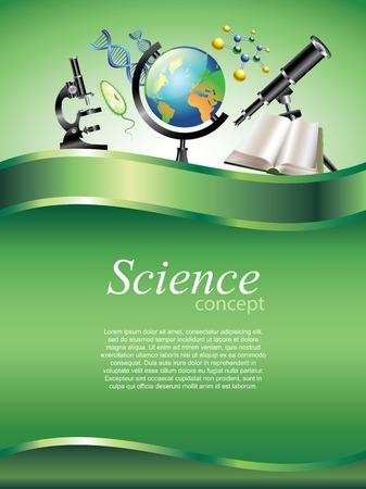 science chemistry: Scientific or education vertical vector background with devider