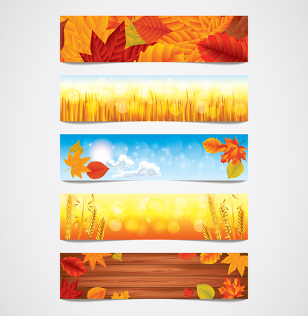 maple wood texture: Autumn stylish banners for your message or advertising