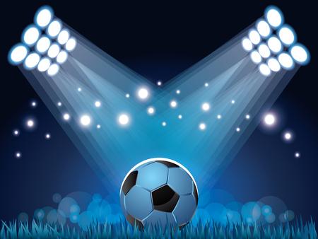 stadium lights: Stadium lights and soccer ball sport