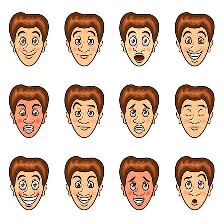 thoughtfulness: Man cartoon emotions