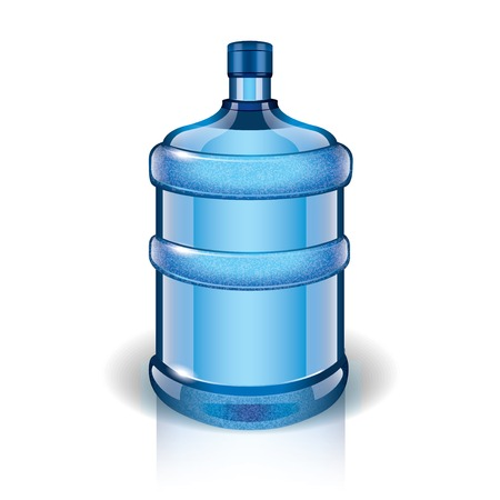 bottled water: Water bottle isolated on white photo-realistic vector illustration Illustration