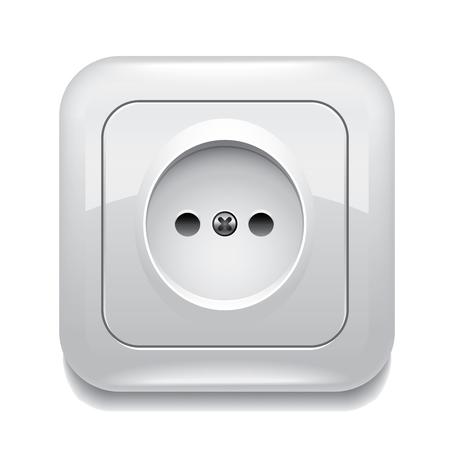 Socket isolated on white photo-realistic vector illustration Illustration