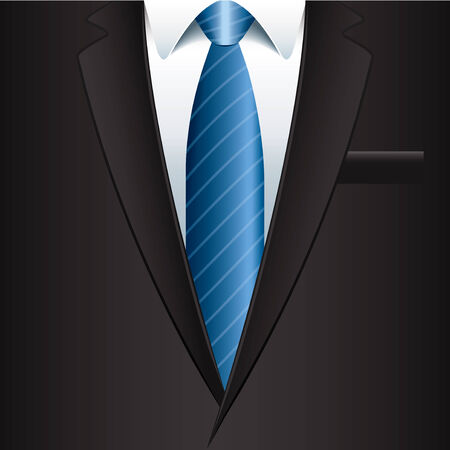 tux: Man suit business background photo-realistic vector illustration Illustration