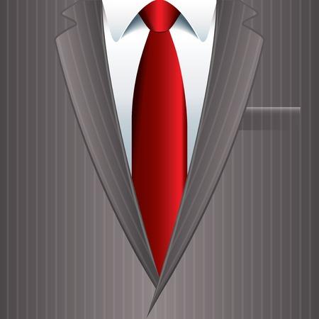 Man suit business background photo-realistic vector illustration Иллюстрация