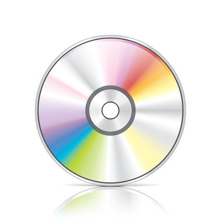 dvd: DVD or CD disc photo-realistic illustration