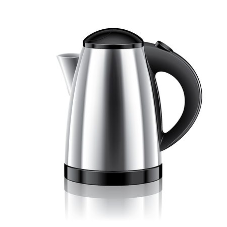 Electric kettle isolated on white photo-realistic vector illustration Vector