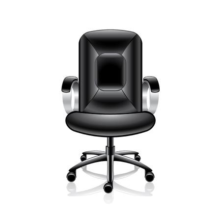 Chaise de bureau isolé sur blanc photo-réaliste illustration vectorielle