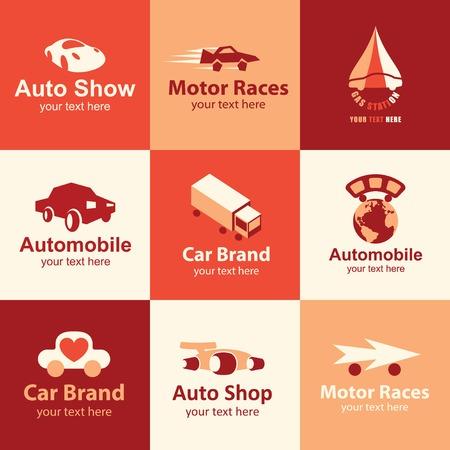 motor vehicle: car flat icons set   for brand Illustration