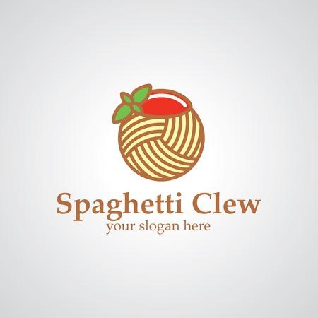 clew: Spaghetti clew vector icon design, icon idea for restaurant brand Illustration