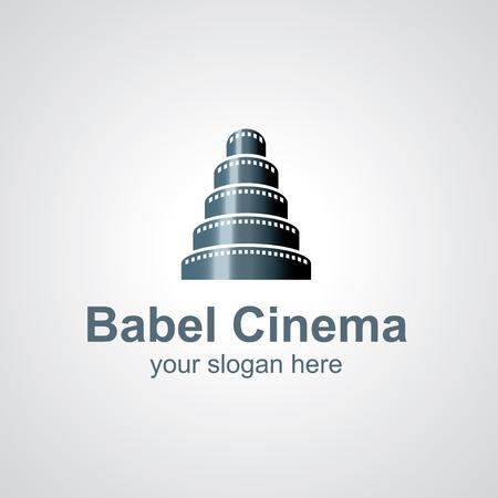 cinematograph: Torre de Babel de icono de vector cine dise�o, idea icono para la marca del cine