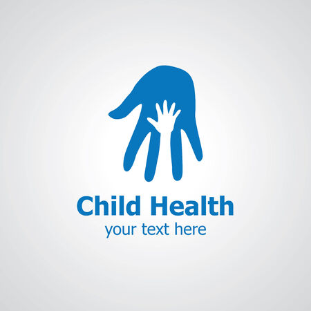 charity person: Two palms vector icon design, icon idea for child clinic brand