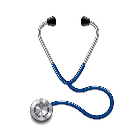 Stethoscope isolated on white photo-realistic vector illustration