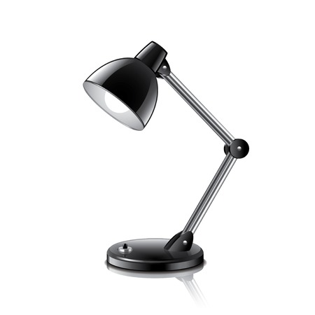 table lamp: Table Lamp isolated on white photo-realistic vector illustration Illustration