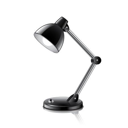 Tischlampe isoliert auf weiß Foto-realistische Vektor-Illustration