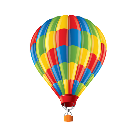 Colored balloon isolated on white photo-realistic vector illustration Vector
