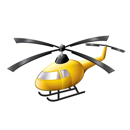 Helicopter isolated on white photo-realistic vector illustration