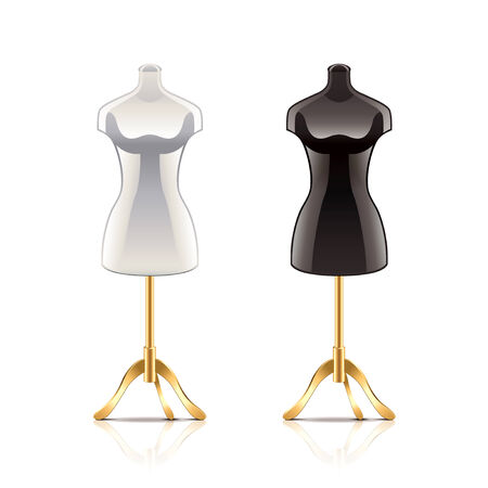 Mannequin isolated on white photo-realistic vector illustration
