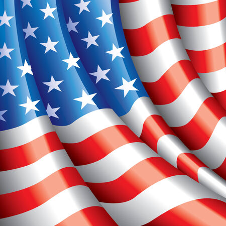 american flag background: American flag background photo realistic vector illustration