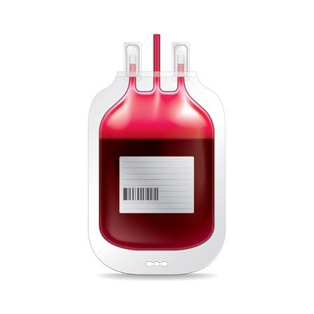 Darowizna krwi na białym fotorealistycznych ilustracji wektorowych