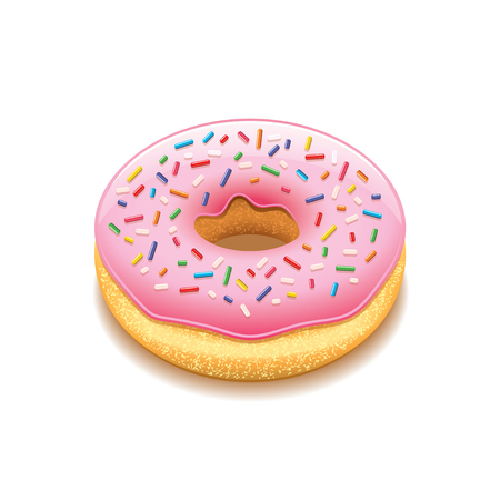 donut: Donut isolated on white photo-realistic vector illustration Illustration