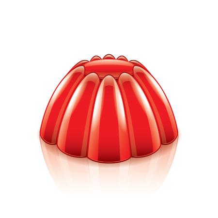 GELATIN: Jelly isolated on white photo-realistic vector illustration
