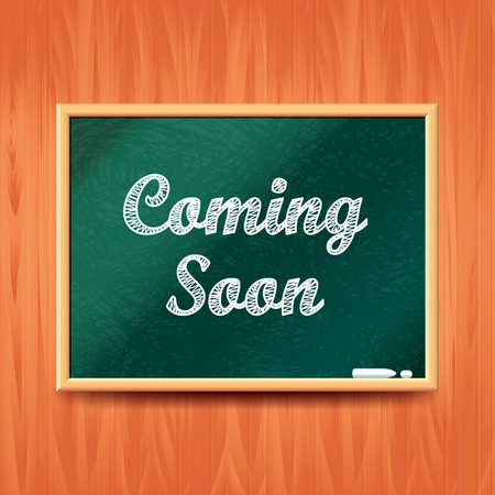 coming soon: Coming soon concept with school board realistic vector background