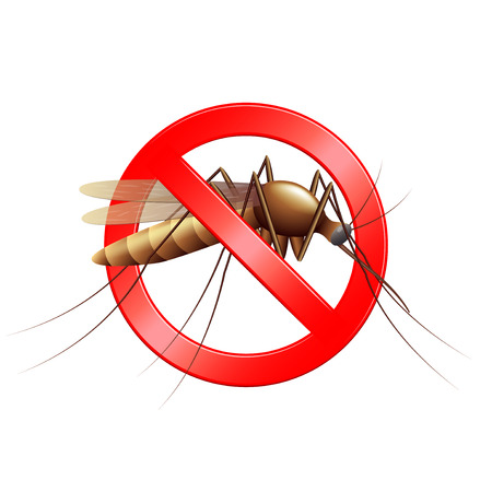 stop mosquito sign: Stop mosquito sign isolated photo realistic vector illustration