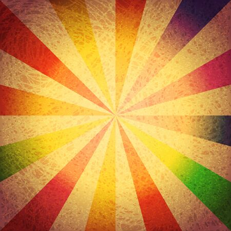 grubby: Vintage and colorful striped grunge vector background