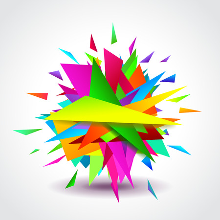 design frame: Abstract background with colorful geometric shapes, vector Illustration