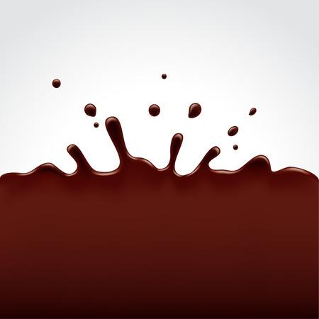 chocolatera: Bienvenida de chocolate caliente en el fondo blanco foto realista del vector