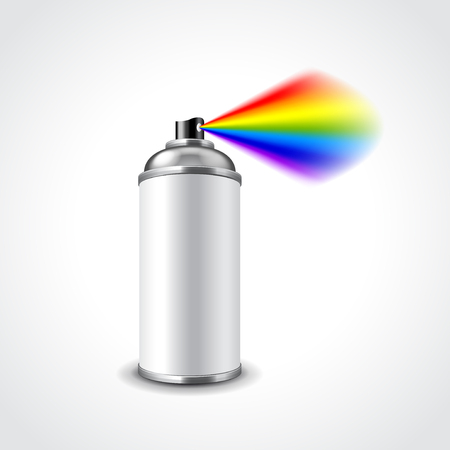 can: Graffiti spray can photo realistic vector illustration