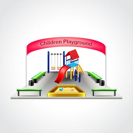 children playground: Children playground isolated high detailed vector illustration