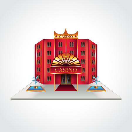 Casino-Gebäude isoliert hoch detaillierte Vektor-Illustration