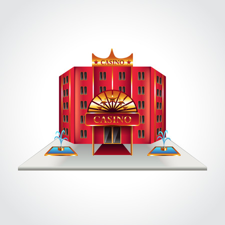 Casino building isolated high detailed vector illustration Illustration