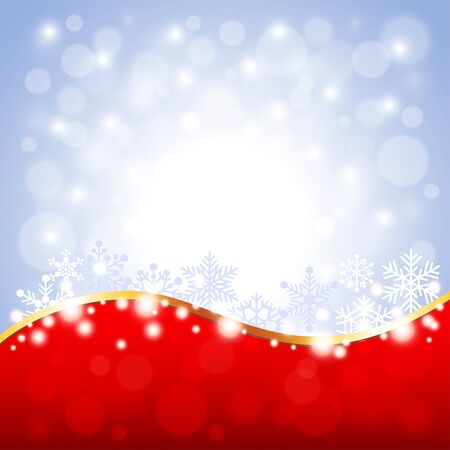 white christmas: Red and white Christmas background detailed vector