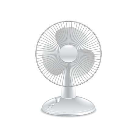 photorealistic: Fan isolated on white photo-realistic vector illustration