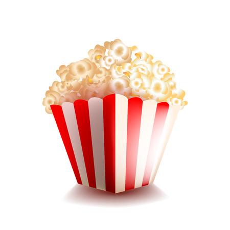 cut away: Popcorn isolated on white photo-realistic vector illustration Illustration